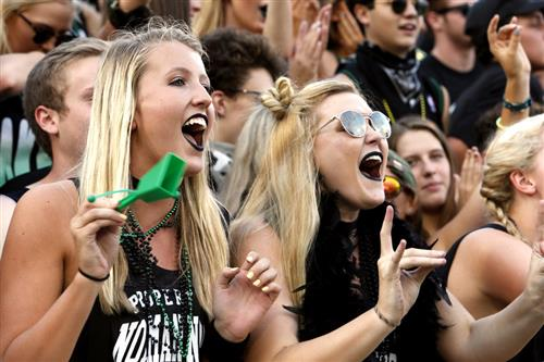 Students cheer at the annual Crosstown Clash