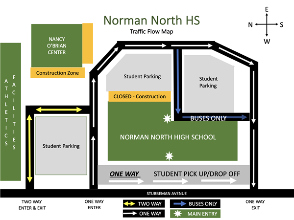 NNHS 2020-2021 Flow of Traffic Map